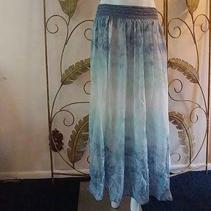 Soft Surroundings Heavenly Antibes Blue Skirt M